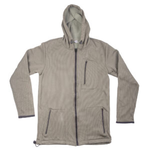 Gray Full Zip Hoodie by Solution Clothing